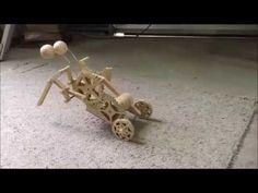 Creepy Bot - Wooden mechanical toy - YouTube