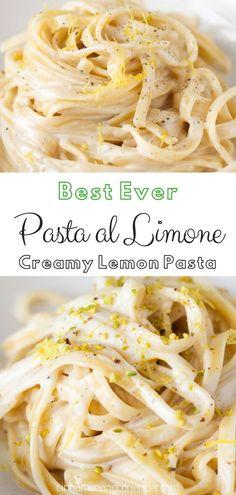 Light Pasta Sauce, Lemon Cream Sauce Pasta, Cheese Sauce For Pasta, Lemon Cream Sauces, Cream Pasta, Cream Sauce Recipes, Pasta Sauce Recipes, Lemon Pasta, Simple Sauce For Pasta