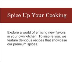 Spice Up Your Cooking. Takes you to Williams-Sonoma website Reference Page for using their spices. #WilliamsSonoma