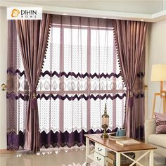 DIHIN HOME Solid Coffee Luxurious Exquisite Embroidered Valance ,Blackout Curtains Grommet Window Curtain for Living Room Panel Curtains Living Room, Curtains, Home Textile, Paneling, Curtains Width, Room, Valance, Blackout Curtains, Grommet Curtains