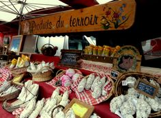 Friday Market in Valloire, French Alps