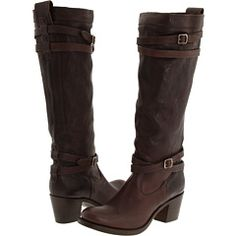 FRYE JANE STRAPPY in Dark Brown Tumbled Full grain #358.00........I'm in love with this boot!!! 5/5 stars @ Zappos