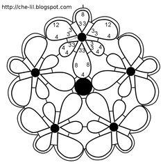 Lilium pendant tatting pattern