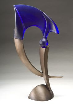 "Brian Russell ""Punctuate 2"" Item #130930 formed bronze and cast glass 39""h x 18""w x 10""d $9,000"