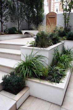 Garden Steps, Diy Garden, Shade Garden, Garden Bar, Garden Boxes, Creative Landscape, Landscape Design, Garden Design, Outdoor Garden Rooms