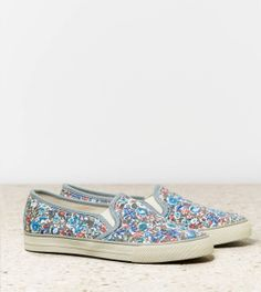 AEO Slip-On Sneakers I WANT so cute for summer