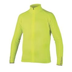 Roubaix Jacket Thermal Fleece Hi-Visibility Yellow Cycling Jacket #cycling #cyclingjacket #clothing #endura #winter #cyclinggears