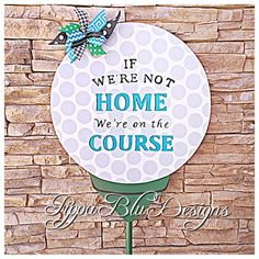 Golf Door Hanger Golf Yard Stake Golf Lawn by PippaBluDesigns