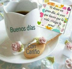 Good Morning Flowers, Good Morning Images, Good Morning Quotes, Morning Thoughts, Christian Love, Morning Messages, Spanish Quotes, Coffee Time, Mornings
