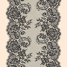 Romantic Laces. Vector Drawing.