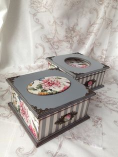 Евгения Фоменко Decoupage Vintage, Decoupage Box, Painted Jewelry Boxes, Painted Boxes, Wooden Boxes, Pretty Box, Altered Boxes, Jewellery Boxes, Vintage Box