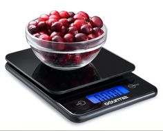 Digital Kitchen Food Scale Tempered Glass Large LCD Touchscreen Tare 11lb. Black - $15.39 - 15.39