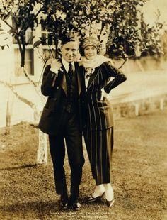 Anna Pavlowa and Charlie Chaplin - Two pair of priceless feet.