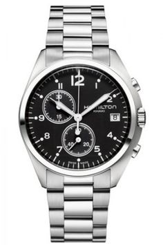 H76512133 - Authorized Hamilton watch dealer - Mens Hamilton Pilot Pioneer Chrono, Hamilton watch, Hamilton watches