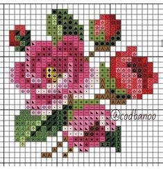 Cross Stitching, Cross Stitch Embroidery, Embroidery Patterns, Pixel Crochet, Crochet Cross, Cross Stitch Rose, Cross Stitch Flowers, Cross Stitch Designs, Cross Stitch Patterns