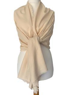 Dark cream coloured pashmina wrap / shawl beautiful and soft with lightly feathered fringing to the edges Measurements approx 76 inch / 190 cm in Pashmina Wrap, Prom Accessories, Fashion Accessories, Cat Scarf, Prom Outfits, Oversized Scarf, Shawls And Wraps, Free Uk