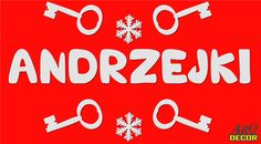 Pracownia Dekoracji ARQ - DECOR - Napis Andrzejki + Klucze!!! Dekoracje styropianowe