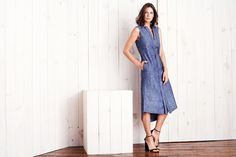 <p>What's better than that chambray shirt you wear to death? A dress version, which, like all great sequels (shout out <em>Finding Dory</em>), keeps the best of the original and adds a little something—or a lot of things—extra. Shout-outs to the midi length, side-slit skirt, waist-cinching tie, and pair of deep pockets. If there was Rotten Tomatoes for outfits, this thing would be at 100%.</p>