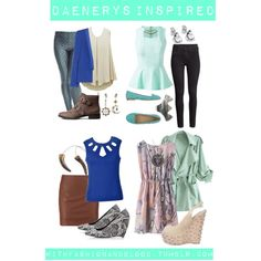 """""""Daenerys inspired stage manager outfits"""" by withfashionandblood on Polyvore"""