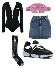 """Кися"" by varvara2v on Polyvore featuring мода, Off-White, Prada, Topshop и Gucci"