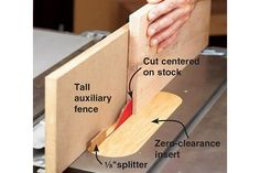 With a little work at the tablesaw, you can resaw wide boards without a riser-block equipped bandsaw. Woodworking Jigsaw, Woodworking Classes, Woodworking Projects, Small Lathe, Wood Magazine, Wood Tools, Table Saw, Wood Lathe, Cool Things To Make