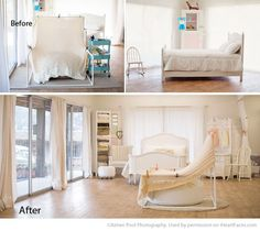 Beautiful Natural Light Photography Studio Tour of Aimee Pool Photography via iHeartFaces.com