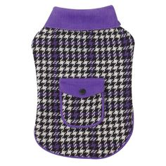 East Side Collection 20-Inch Polyester Houndstooth Dog Coat, Large, Ultra Violet - http://www.thepuppy.org/east-side-collection-20-inch-polyester-houndstooth-dog-coat-large-ultra-violet/