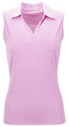 #lorisgolfshoppe Women's Golf Apparel offers a classy collection of golf skorts, shorts, dresses, and golf tops. You gotta see this ESSENTIALS Cameo Nancy Lopez Ladies & Plus Size LEGACY Sleeveless Golf Polo Shirt with unique , pretty colors!