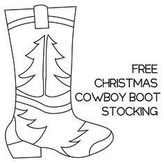 Free Cowboy Boot Christmas Stocking Pattern
