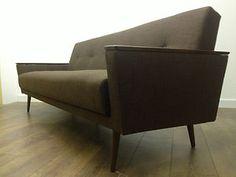 Original Mid Century 1960s Sprung Day Bed Sofa Vintage Retro 50s 70s Danish Wool | eBay