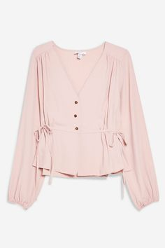 Tie Side Blouse - Shirts & Blouses - Clothing - Topshop Europe Source by Casual Hijab Outfit, Casual Outfits, Love Fashion, Womens Fashion, Fashion Design, Fashion Trends, Corset Sewing Pattern, Hijab Fashion, Fashion Dresses