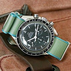 Omega Speedmaster comfortable waterproof NATO straps omegaspeedmaster speedmaster speedy speedytuesday nato natostrap watch watches watchstrap wrist wristwatch iconic moon moonwatch weekend Perlon