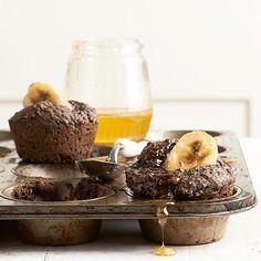 Dark Cocoa-Banana Muffins