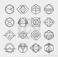 hipster geometric line logo - Google Search