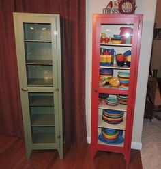 Antique Primitive Painted Chimney Jelly Cupboard Cabinet Beautiful Vintage Jelly  Cupboard Cabinet W/ Glass Panel Door Hoosier Style Kitchen Pantry This Ad  ...