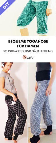 Praktische Yogahose für Damen - Nähanleitung via Makerist.de
