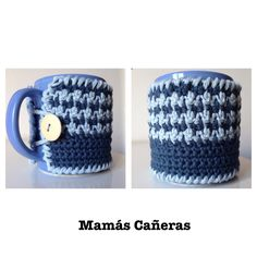Funda para taza a crochet. Cover for cup Tapestry, Crochet, Cotton, Weaving, The Creation, Crocheting, Tejidos, Hanging Tapestry, Tapestries