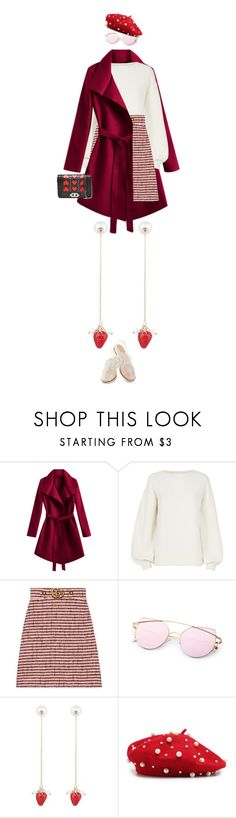 """""""eva1857"""" by evava-c on Polyvore featuring Helmut Lang, Gucci and Rachel Antonoff"""