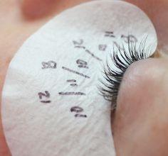Mapping Eyelash Extensions #eyelashextensions