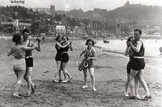 Dancing on Scarborough Beach - 1920s?
