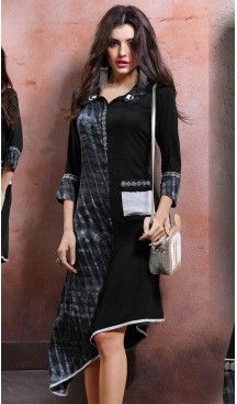 Party Wear A-line Cotton Readymade Tops in Black Color | FH525779543 #kurtis , #kurtas , #tunic , #top , #fashion , #clothing , #women , #heenastyle , #ladies , @heenastyle  , #teenagers , #girls , #style , #mode , #mehendi , #diwali #utsavfashion , #fashion , #boutique , #online , #colors , #dresses , #christmas , #party , #dresses , #shopping , #sequin , #peplum , #xmas , #outfit , #black , #red , #colors , #collection , #novelty , #print, #themed , #2016 , #stunning , #swing