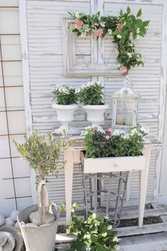 Shabby chic living - ideal for the summer garden Shabbychic house house… - Diydekorationhomes.club - Shabby chic living – ideal for the Shabbychic summer garden house house … -