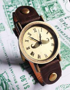 Moustache Watch Retro Leather Watch Mens Watch Women by FreeForme, $12.00 태양성카지노ⓑ FKFK14.CO.NR ⓑ태양성카지노 태양성카지노ⓑ FKFK14.CO.NR ⓑ태양성카지노