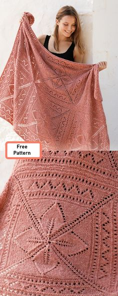 Knitting Patterns how to crochet Free Knitting Pattern for a Lace Nordic Rose Afghan Knitted Afghans, Knitted Blankets, Lace Knitting Patterns, Free Knitting, Knitted Afghan Patterns, Lace Knitting Stitches, Baby Knitting, Easy Knitting Projects, Knit Crochet