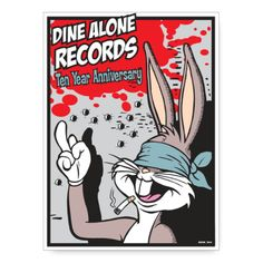 Limited edition Frank Kozik poster - Dine Alone Records Poster Series, Designer Toys, Illustrations And Posters, Various Artists, Alone, Screen Printing, Illustration Art, Animation, Stamp