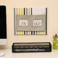 Tutorial: Wall mounted mail organizer from fabric