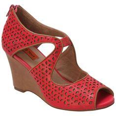 Miz Mooz Women's Tamryn Wedge Sandal | Infinity Shoes Red