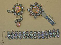 "Jewelry set / Vendôme & Coro  (American)  / Date: late 1950s Culture: American Medium: glass, metal / Inscription: [imprint] (a, b) ""Vendôme"""