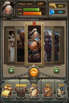 Web Design, Game Ui Design, Game Gui, Game Icon, J Games, Card Games, Card Ui, Princess Games, 2d Game Art