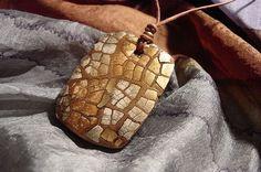 Eggshell Mosaic Pendant by Adriana Delphino